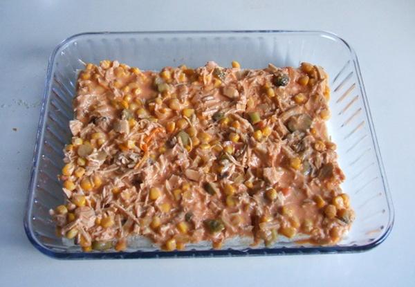 Torta de pão com frango - 8º passo