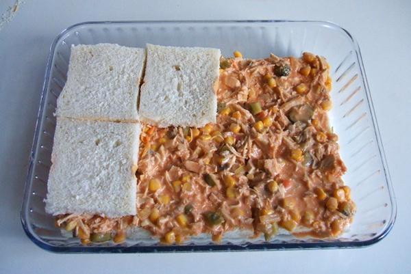 Torta de pão com frango - 9º passo
