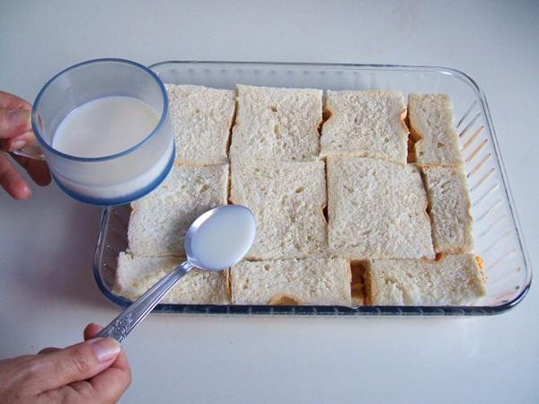 Torta de pão com frango - 10º passo
