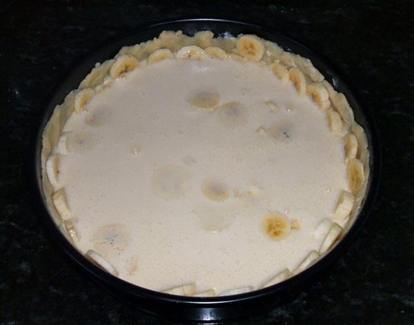 Torta cremosa de banana - 7º passo