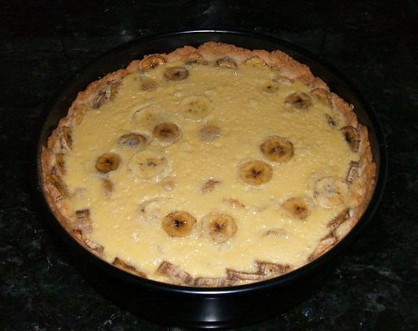 Torta cremosa de banana - 8º passo