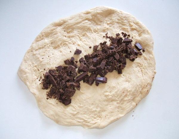 Pão com recheio de chocolate - 5º passo