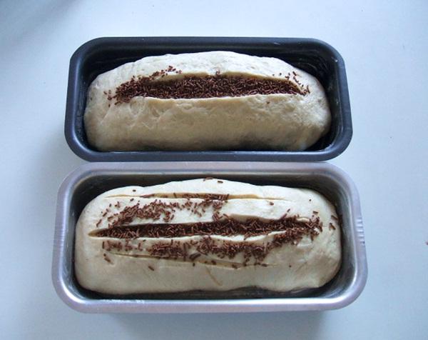 Pão com recheio de chocolate - 7º passo