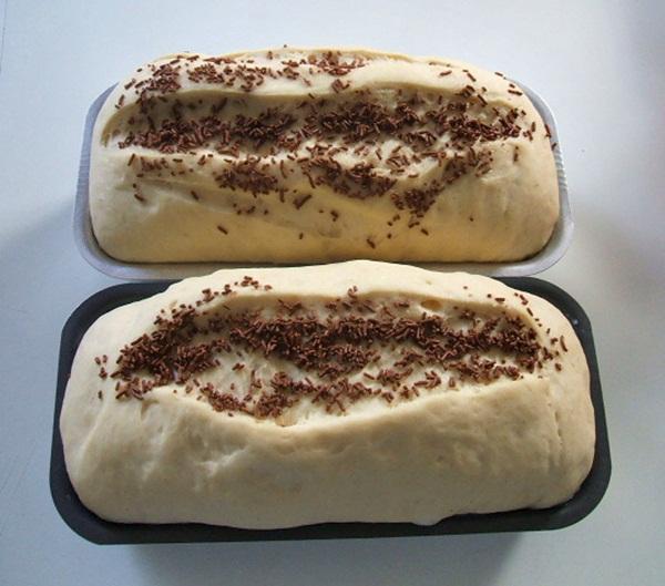 Pão com recheio de chocolate - 8º passo