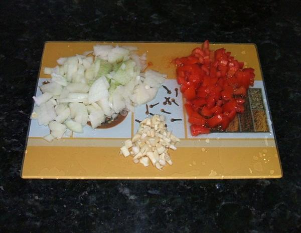 Torta salgada de carne moída - 1º passo