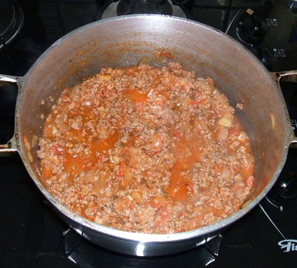 Torta salgada de carne moída - 4º passo
