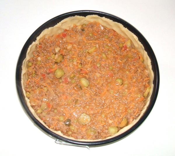Torta salgada de carne moída - 8º passo