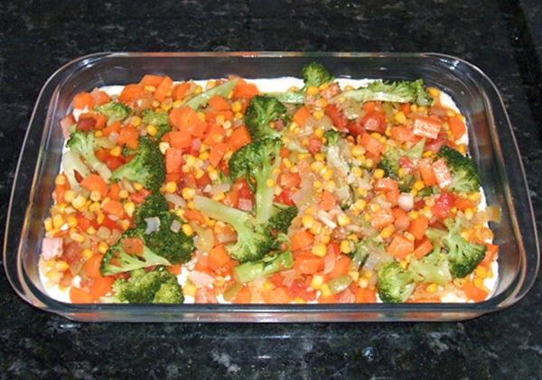 Torta salgada de legumes - 13º passo