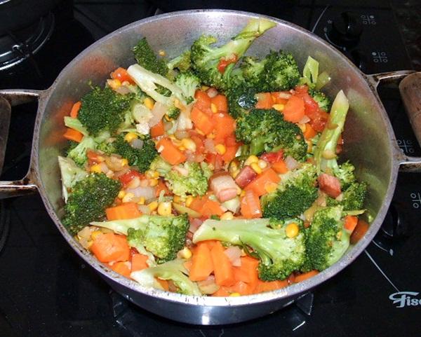 Torta salgada de legumes - 7º passo