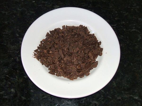Mousse de chocolate - 2° passo
