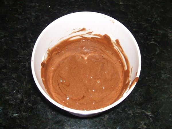 Mousse de chocolate - 5° passo