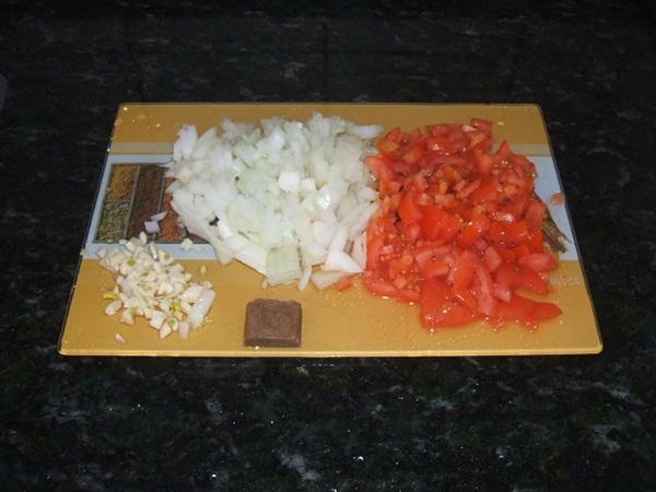 Panqueca de carne moída - 1° passo