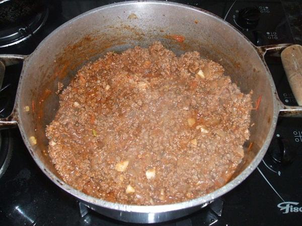 Panqueca de carne moída - 3° passo