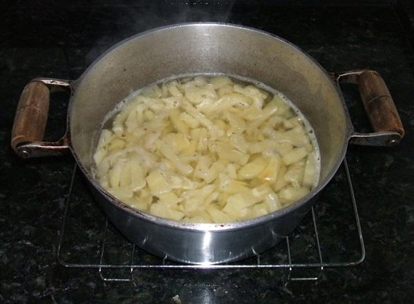 Sobremesa de abacaxi - 2° passo